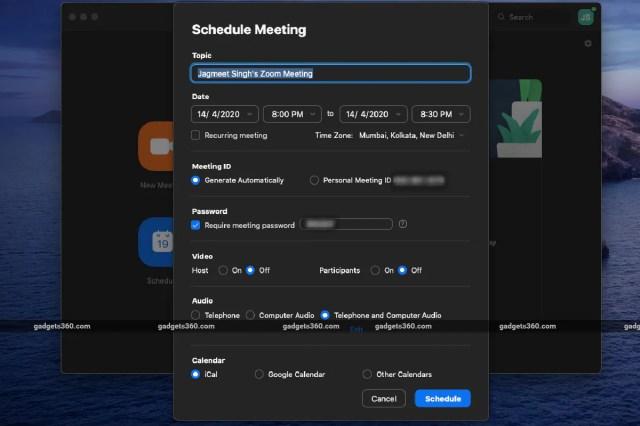 Zoom plan meeting screen widget 360 zoom