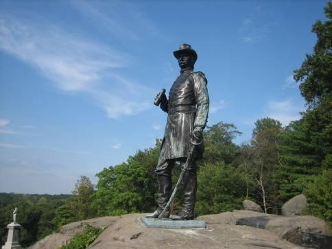 Image result for statue of general warren at gettysburg