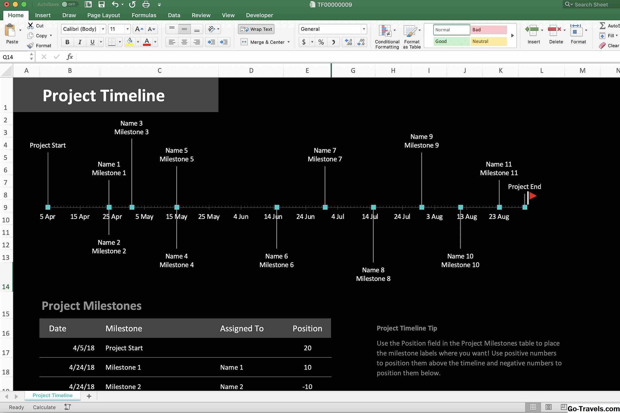 Timeline Excel