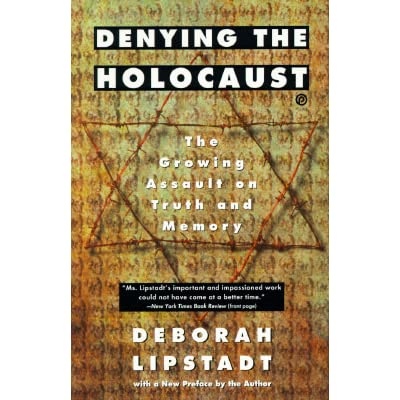 Cover of Lipstadt's book, Denying the Holocaust