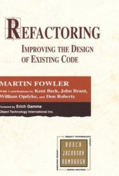 Refactoring: Improving the Design of Existing Code Pdf Book