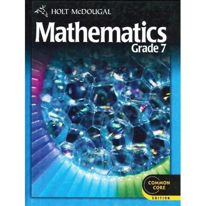 Holt Mcdougal Mathematics Student Edition Grade 7 By