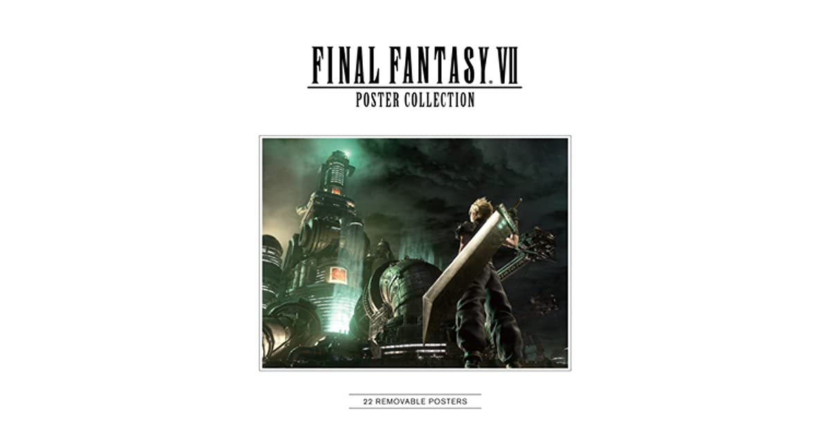 final fantasy vii poster collection by