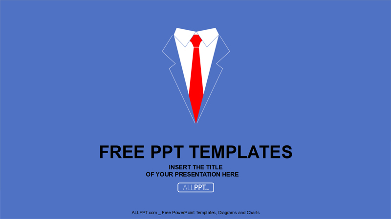 50 Free Cartoon PowerPoint Templates with Characters   Illustrations Business Shirt and Tie Free PowerPoint Presentation Template