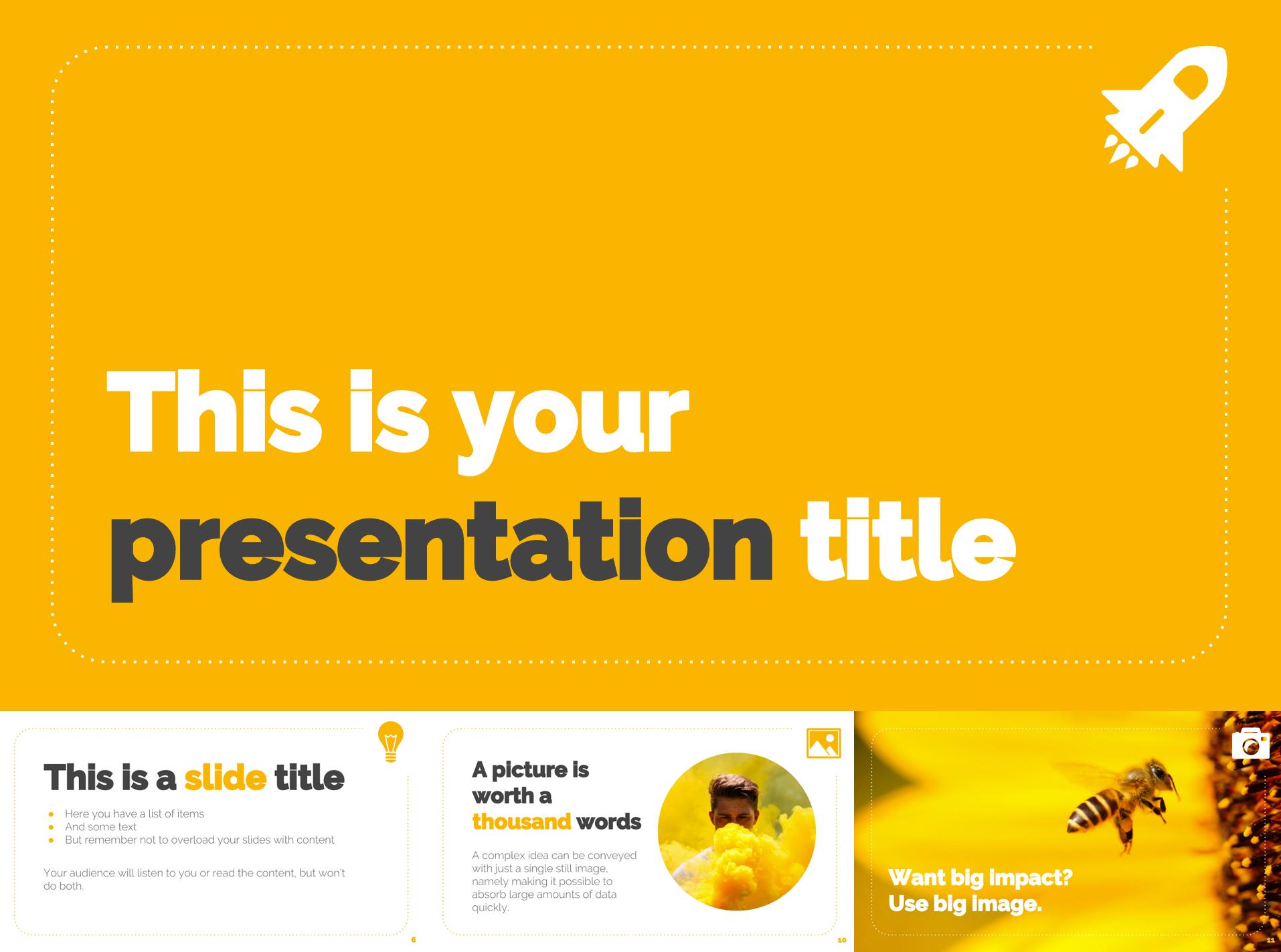 Bright Yellow Free Google Slides Templates - The Internet Tips