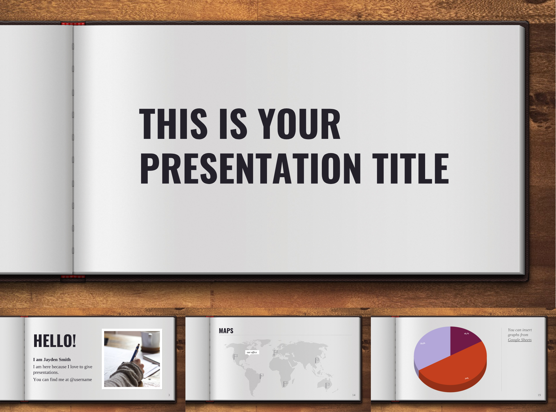 Open Book Free Google Slides Template - The Internet Tips