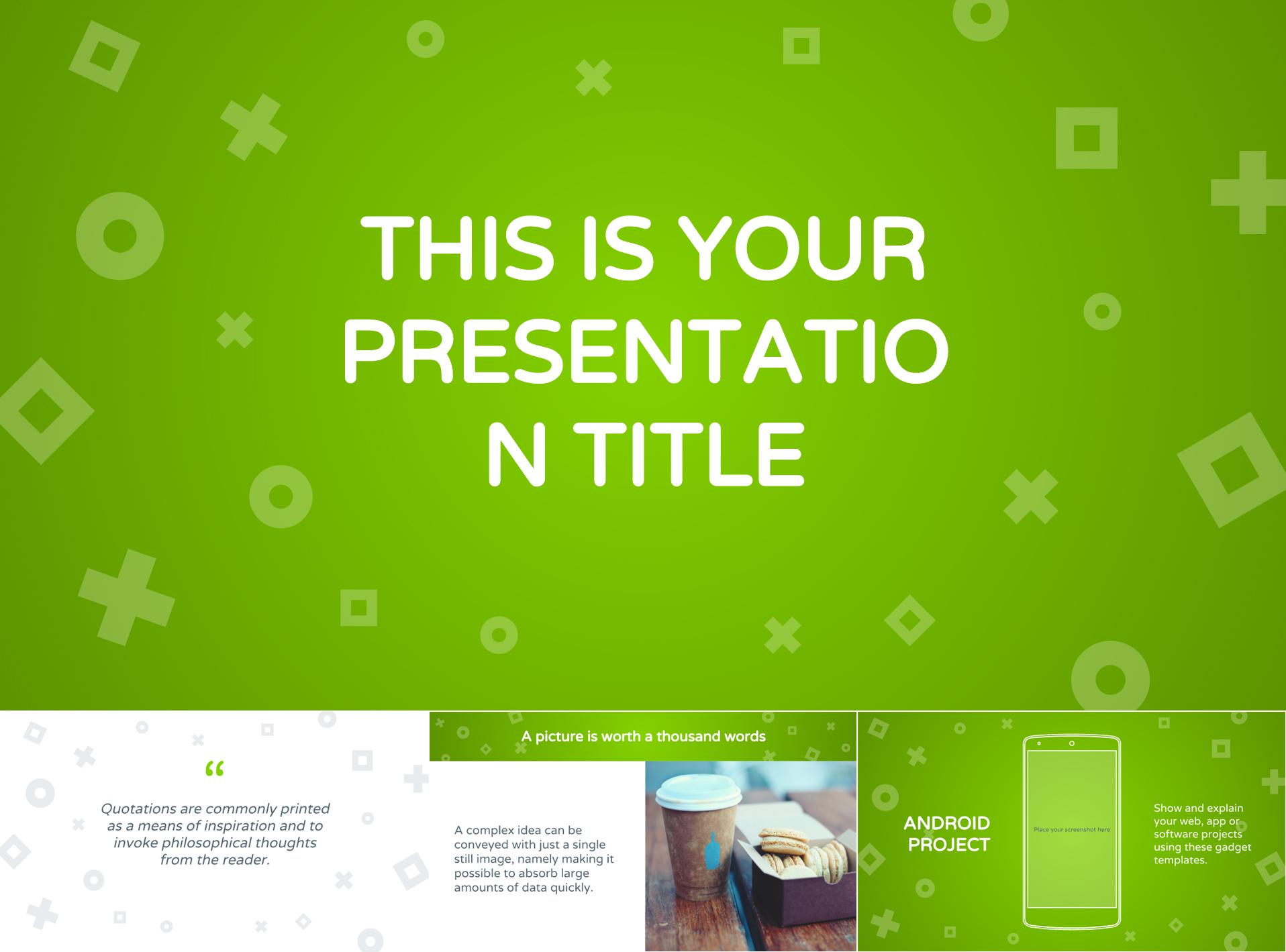 Lively Green Google Slides Presentation Template - The Internet Tips