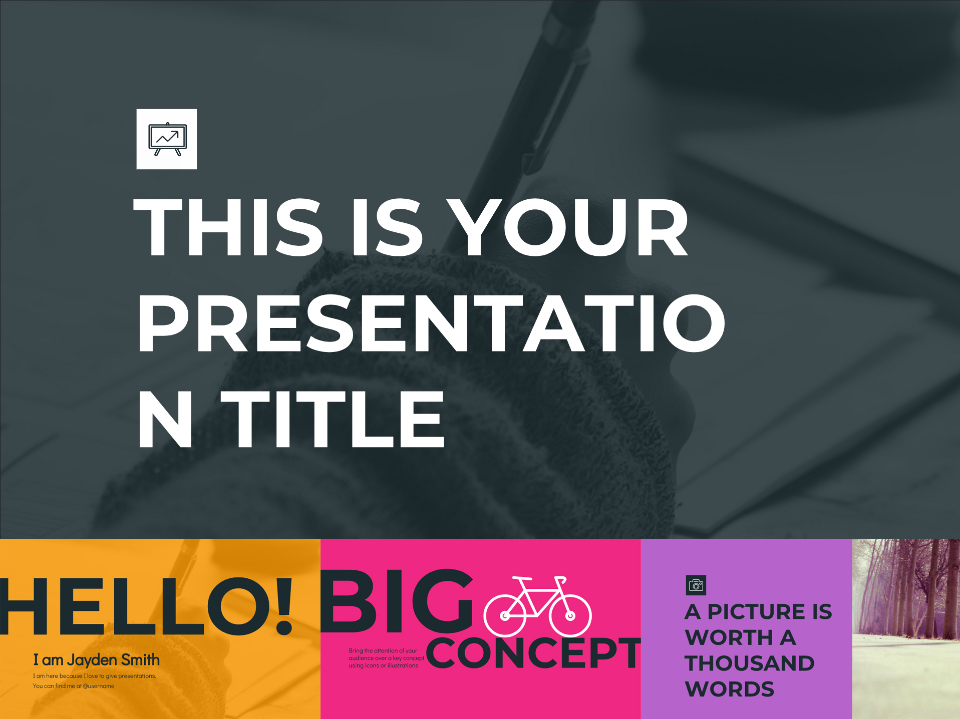 Rainbow Google Slides Templates Presentation - The Internet Tips