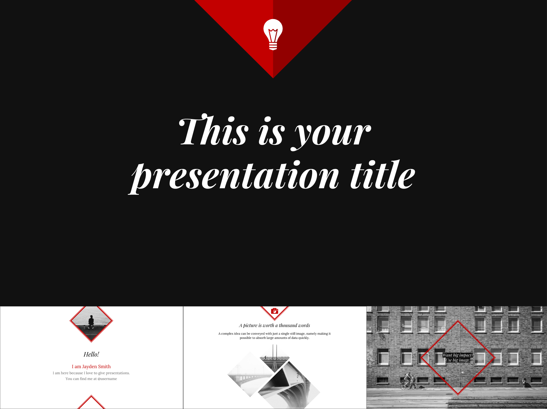 Elegant Minimalist Google Slides Presentation Template - The Internet Tips