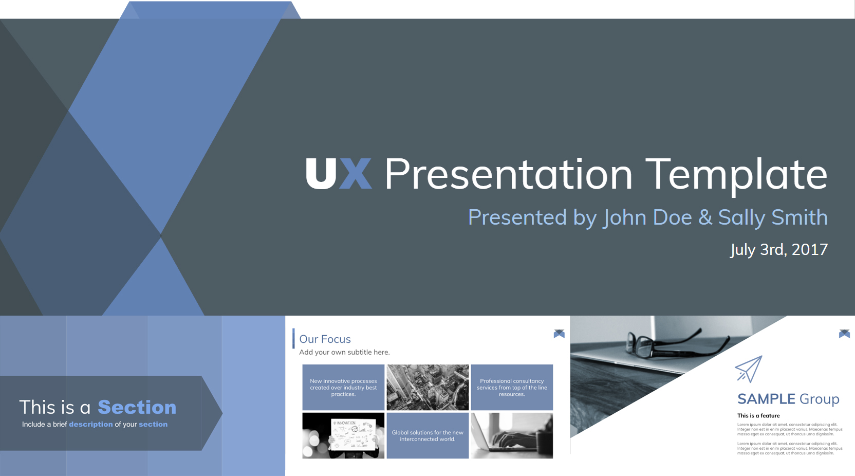 Stylish Free Google Slides Presentation Template - The Internet Tips
