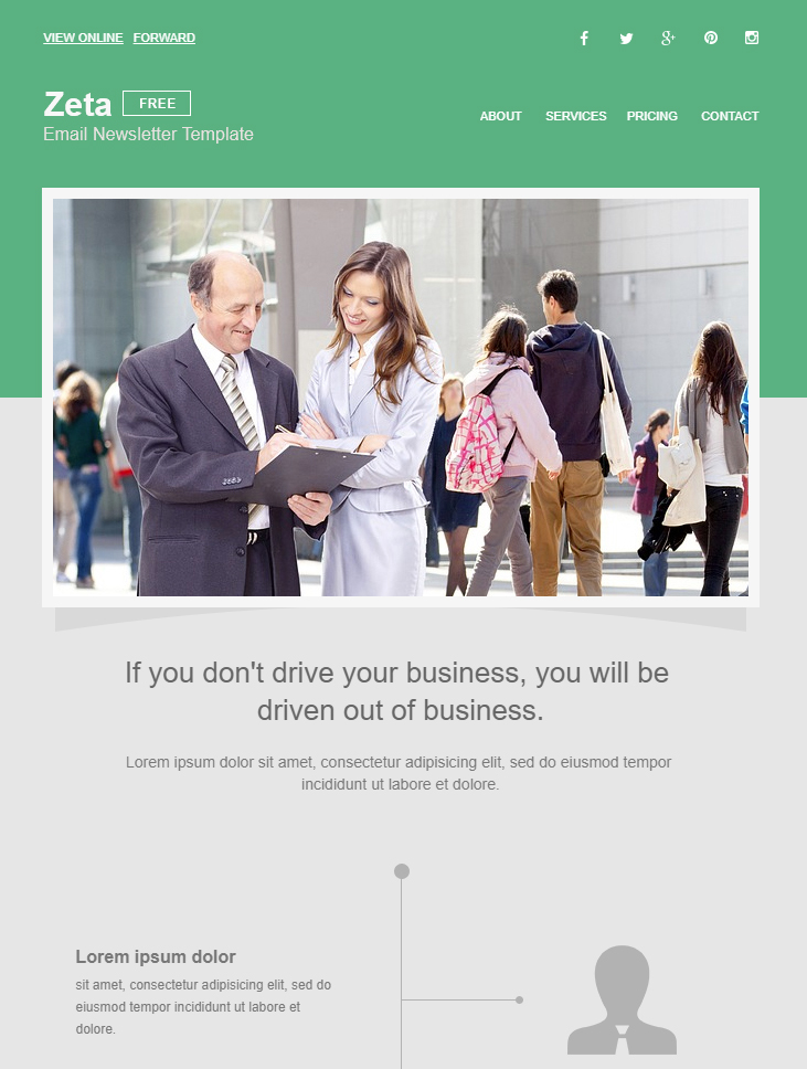 Blue and purple casual corporate app development startup company newsletter. 99 Free Responsive Html Email Templates To Grab In 2020