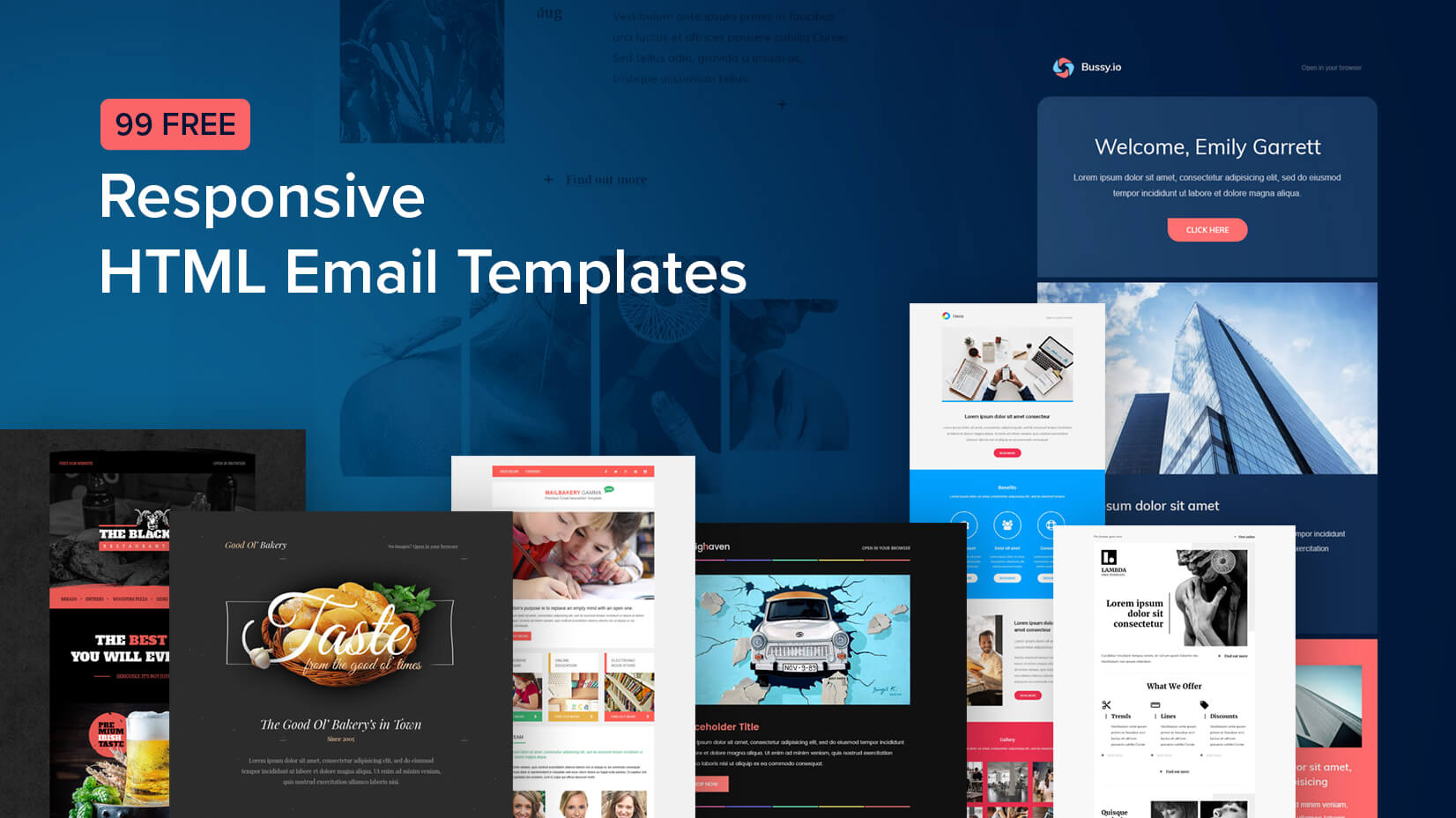 Your template should show the identity of your business. 99 Free Responsive Html Email Templates To Grab In 2020