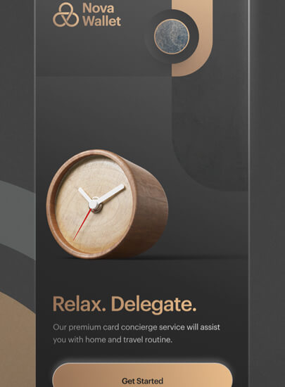 Trending style web design with 3D with image depth
