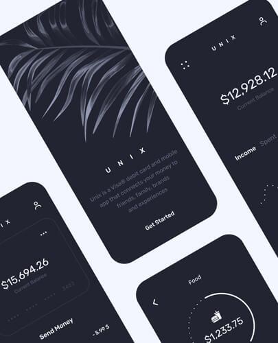 Unix dark mode web design app