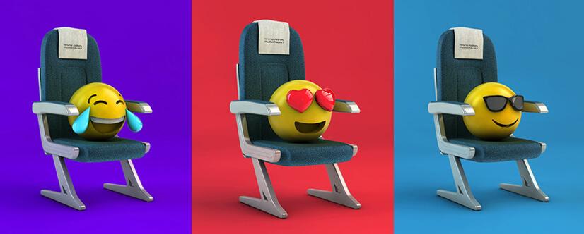 3D emoji style design for commercial