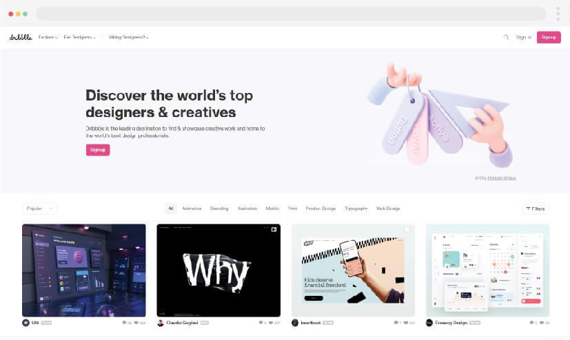 2 Web design inspiration Dribbble