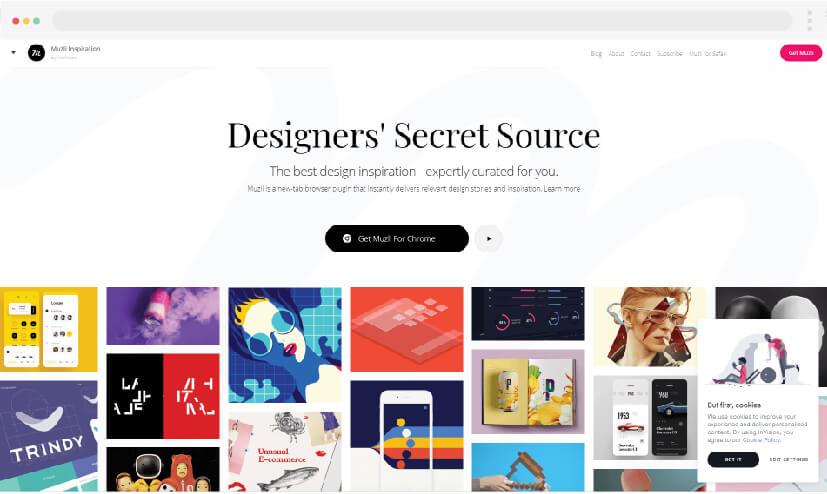 3 Web design inspiration Muzli