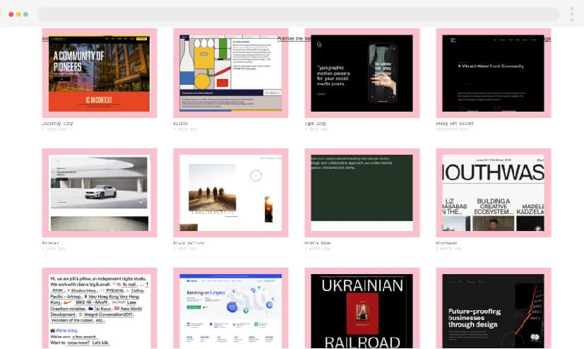 10 Web design inspiration Admire Web