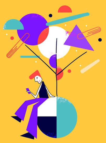 Geometry based illustration design trend in 2021