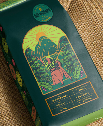 Coffee package design with illustration in 2021