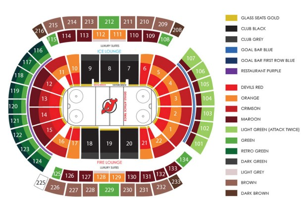 save off 4f234 ebd5f New jersey devils arena seating chart / Restaurants around ...