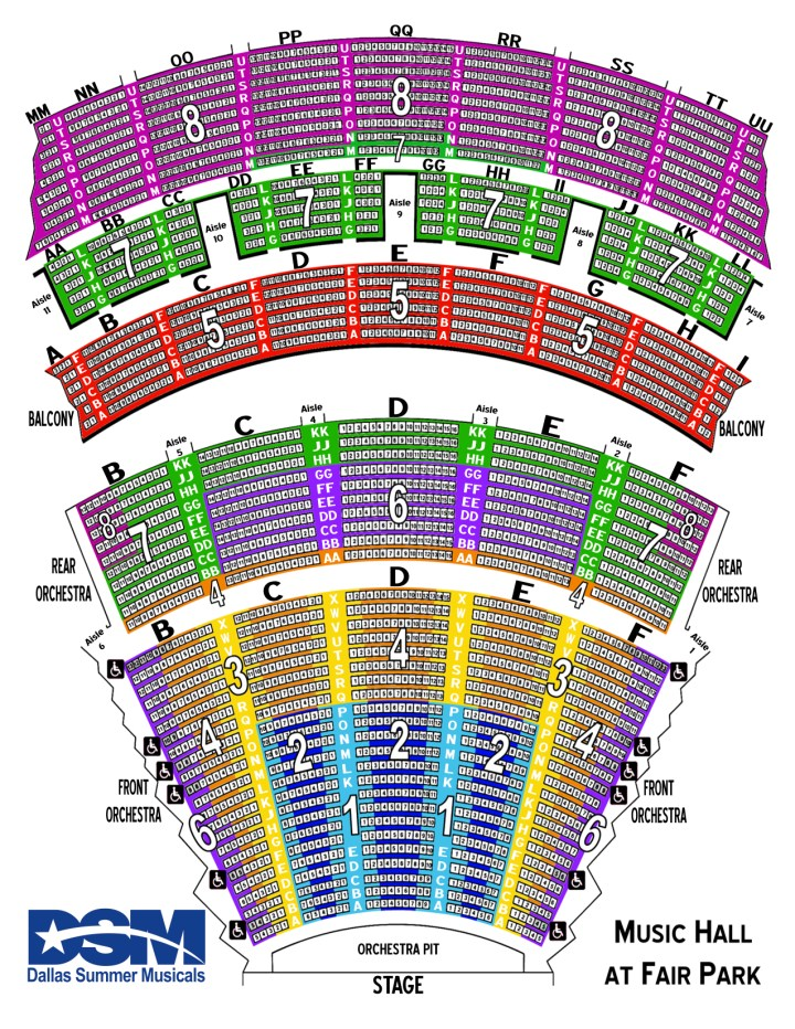 Dallas Summer Musicals Seating Chart 2017 Brokeasshome Com