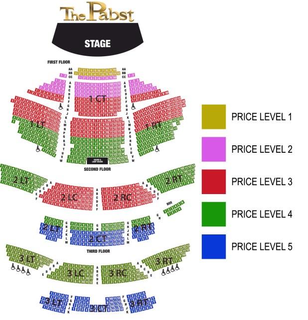 Riverside Theatre Milwaukee Wi Seating Chart