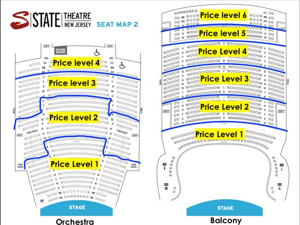 State Theatre New Brunswick Nj Seating Chart