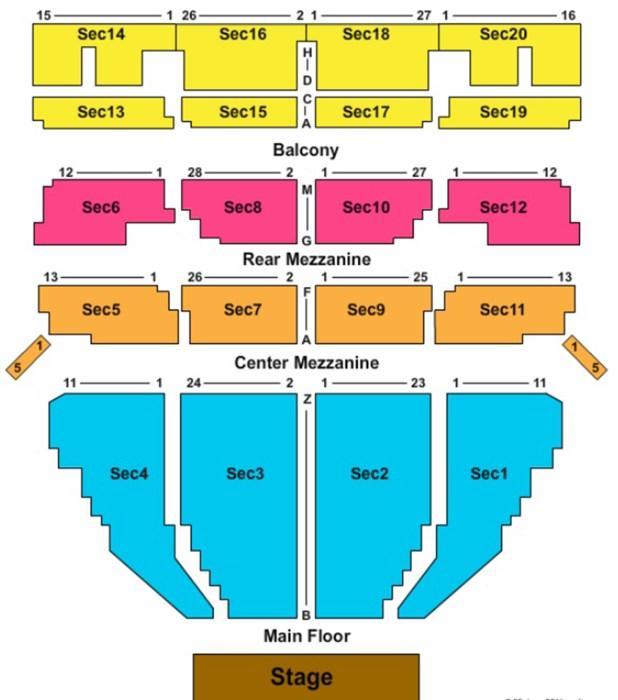 Music Hall Seating Chart Detroit Mi Brokeasshome Com