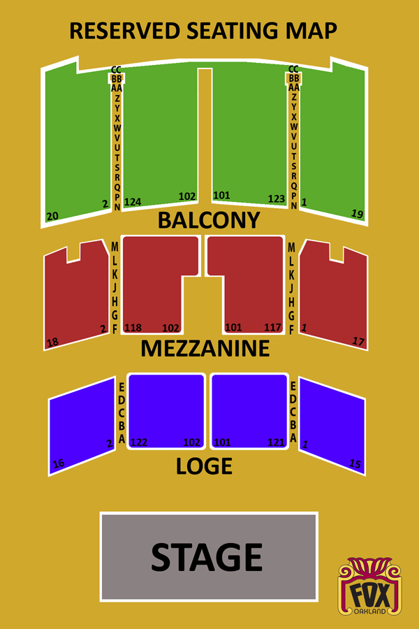 fox theater seating chart pdf
