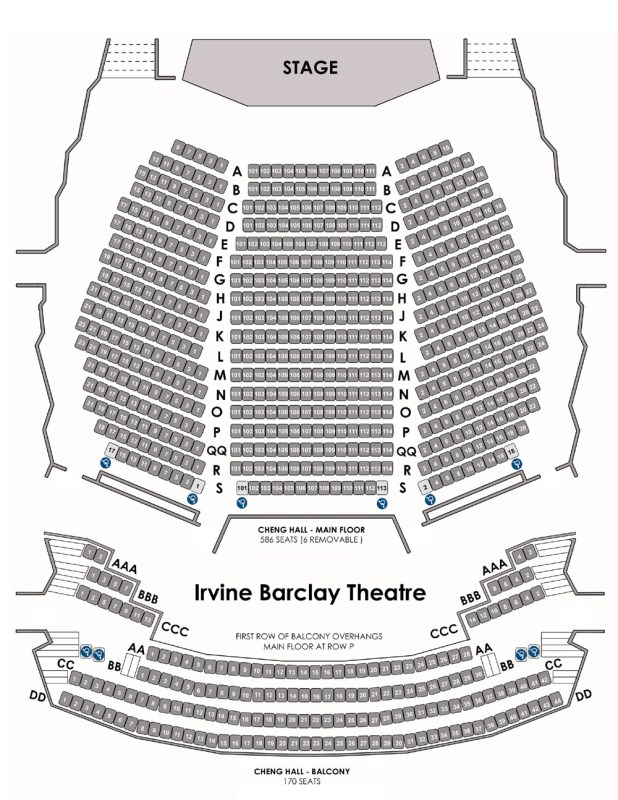 Barclay Theater Seating Chart Irvine