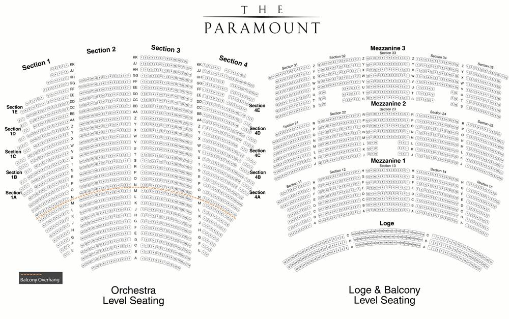 Seattle Paramount Theatre Seating Chart Wallseatco