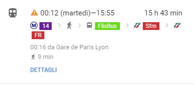 Raggiungere Parigi in Treno