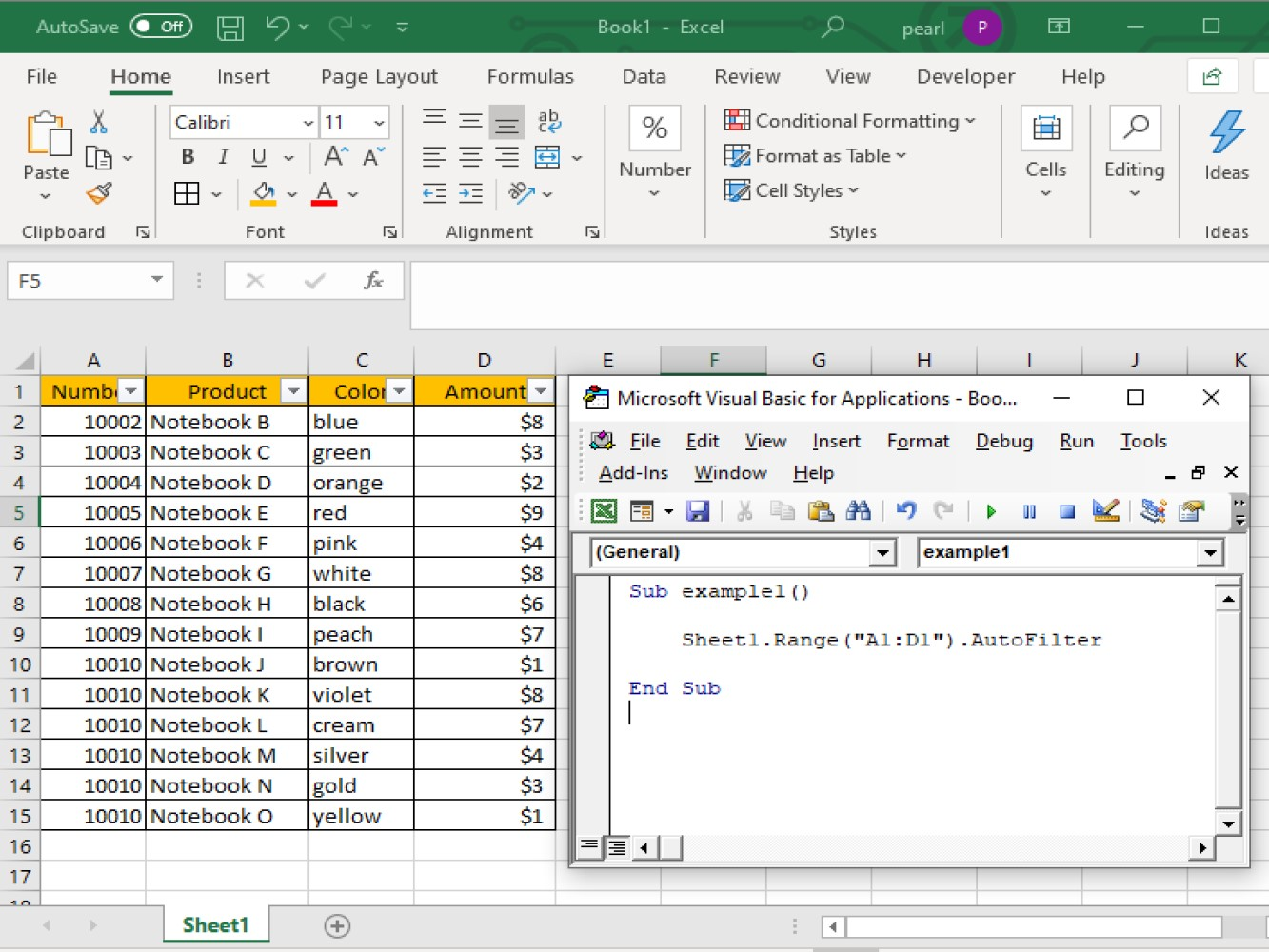 How To Use Vba Excel Autofilter