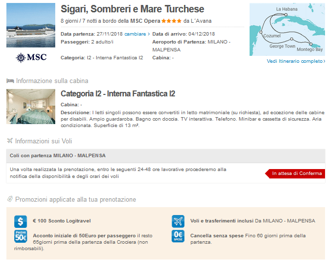 Guarda qui l'offerta crociera Msc!
