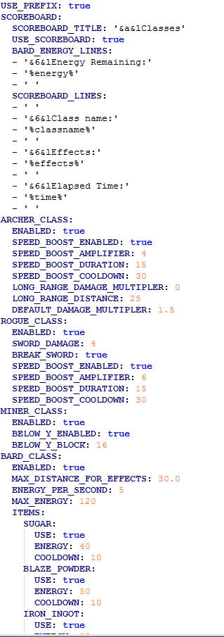 HCF Classes Bard Rogue Archer And Custom Classes 17 112 Minecraft Market