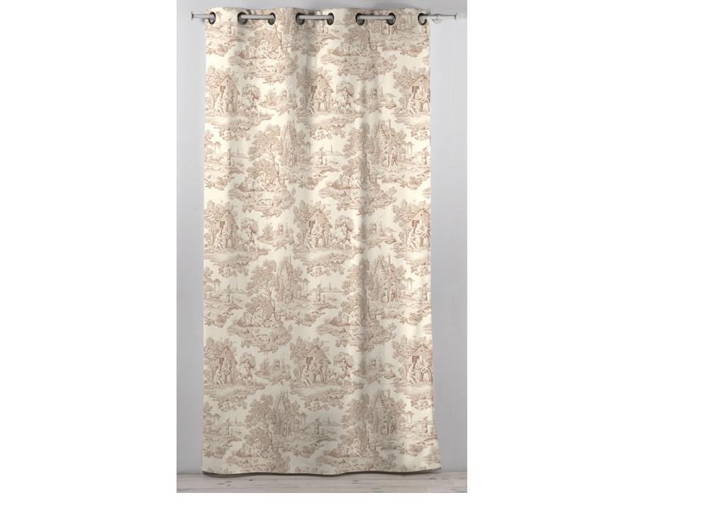 rideau en coton beige 30585
