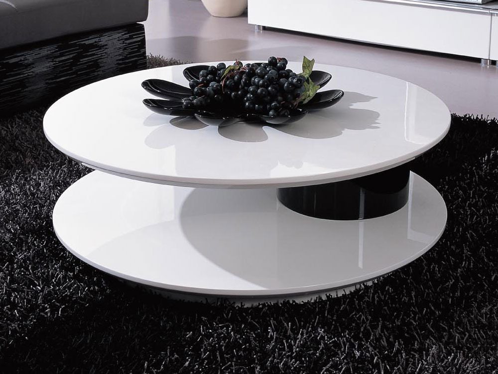 table basse ronde flavum mdf laque