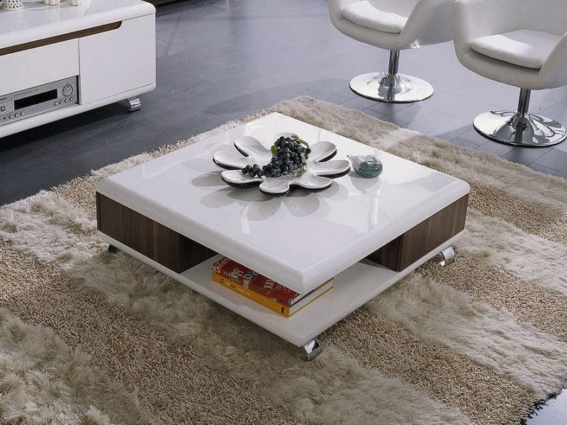 table basse carree lotus mdf laque