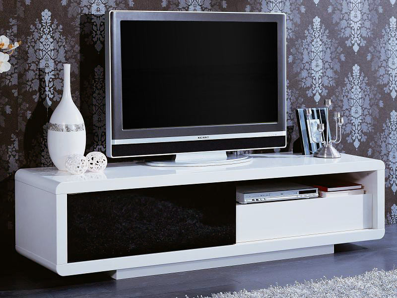 meuble tv rectangulaire rosa mdf