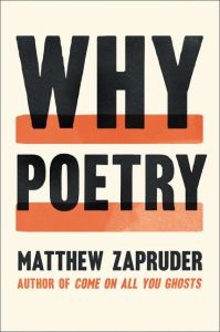Why Poetry   Matthew Zapruder   Hardcover Enlarge Book Cover
