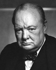 Soldier, author, journalist, politician Winston Churchill
