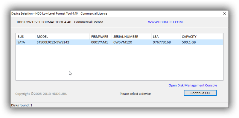 HDD Low Level Format Full 4.40