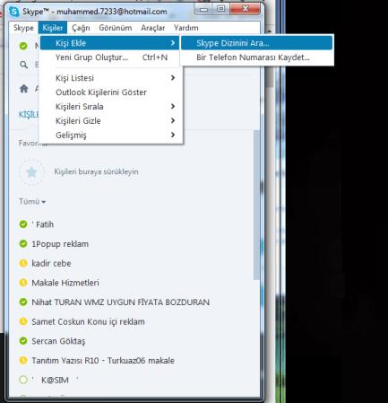 ZOvn8k Yeni Skype Kişi Ekleme Sorunun Çözümü