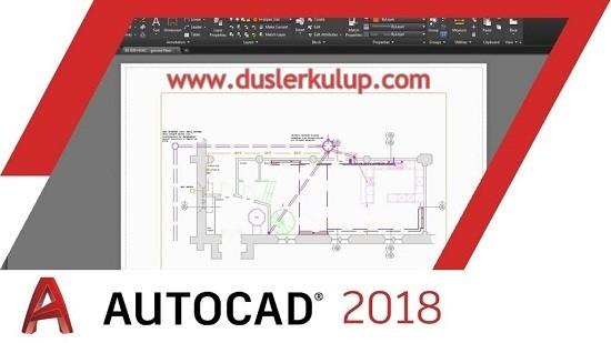 r2klpN Autodesk Autocad 2018 Çizim Programını Orijinal İndir