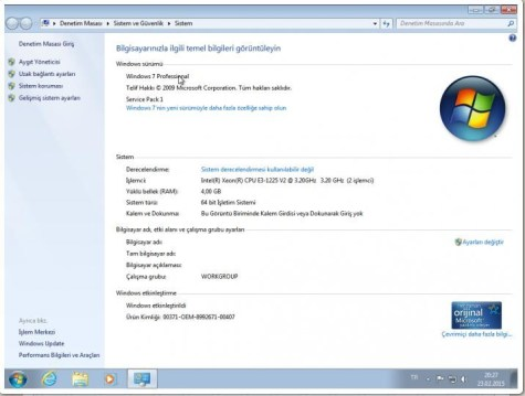 windows 7 orjinal