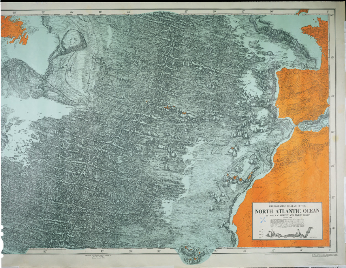 Ocean Floor Features Diagram