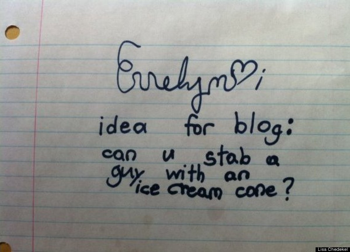 Funny note from Children