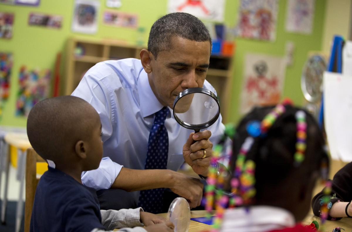 Obama Preschool Photos May Make Your Day Regardless Of