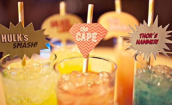 Fun Wedding Idea-comic book themed cocktails